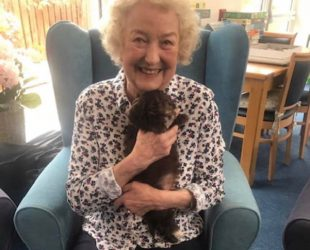 Residents Enjoy Cuddles From Puppy