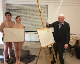 Abbeyfield Resident Norman Takes Life Drawing Classes