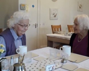 New Abbeyfield Residents Enjoys First Coffee In The House
