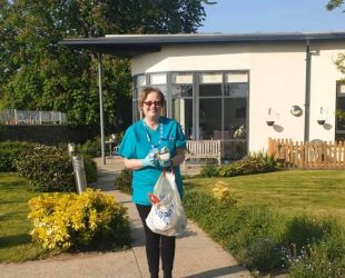 NHS Worker Brings Treats For Abbeyfield Residents