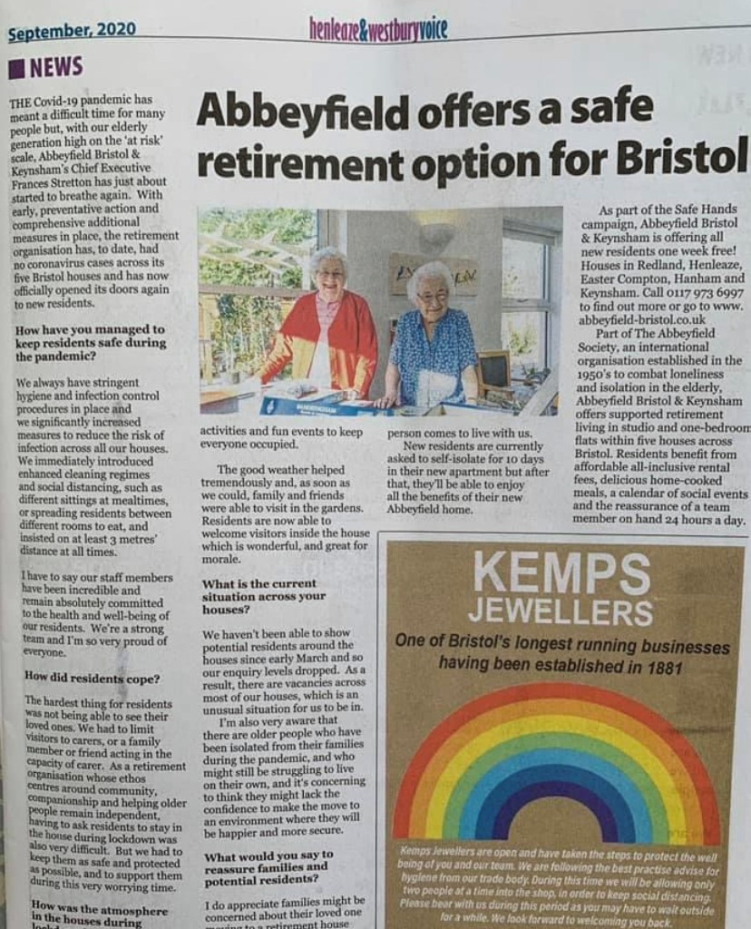 abbeyfield bristol is the safe option for retirement