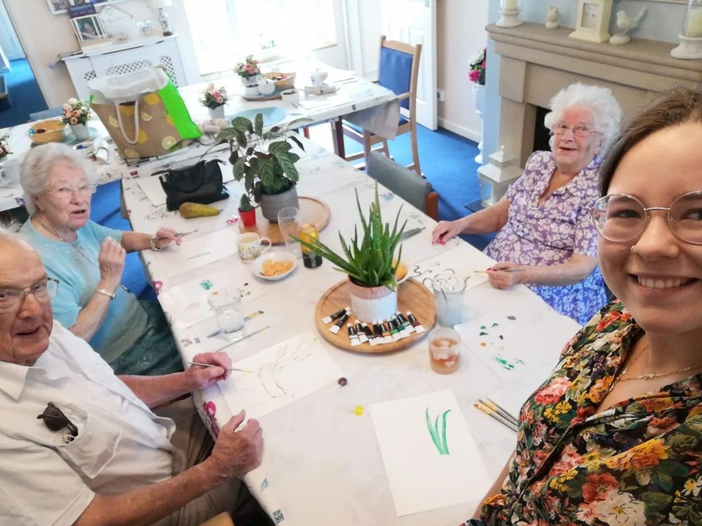 art sessions at Abbeyfield House Easter Compton