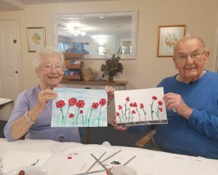 Poppy Painting Abbeyfield House Easter Compton