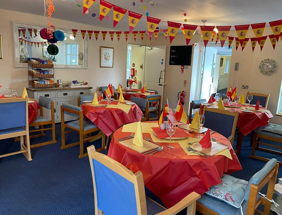 All set for Spanish Themed lunch at Abbeyfield House